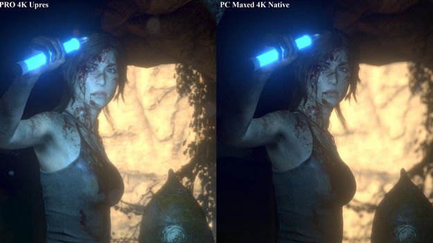 Rise of the Tomb Raider сравнение графики PlayStation 4 Pro и PC