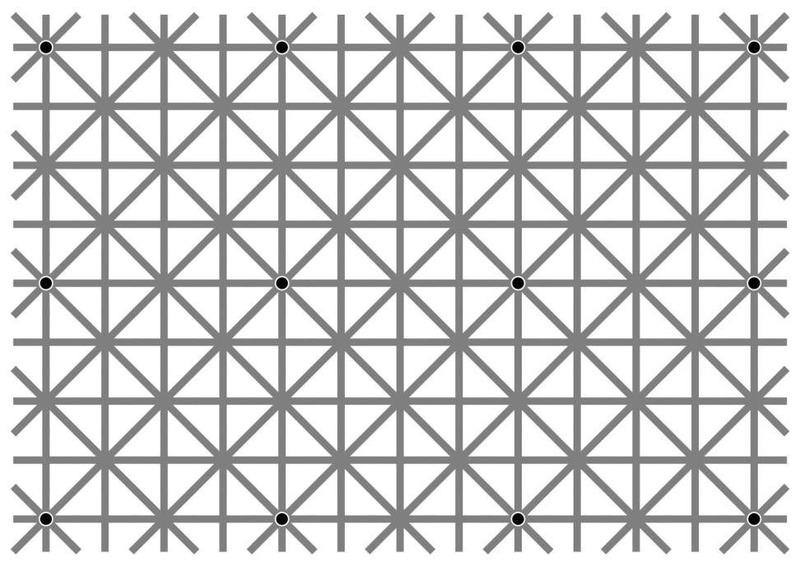 Оптическая иллюзия: 12 точек