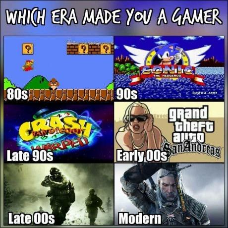В какой эпохе ты начал играть?