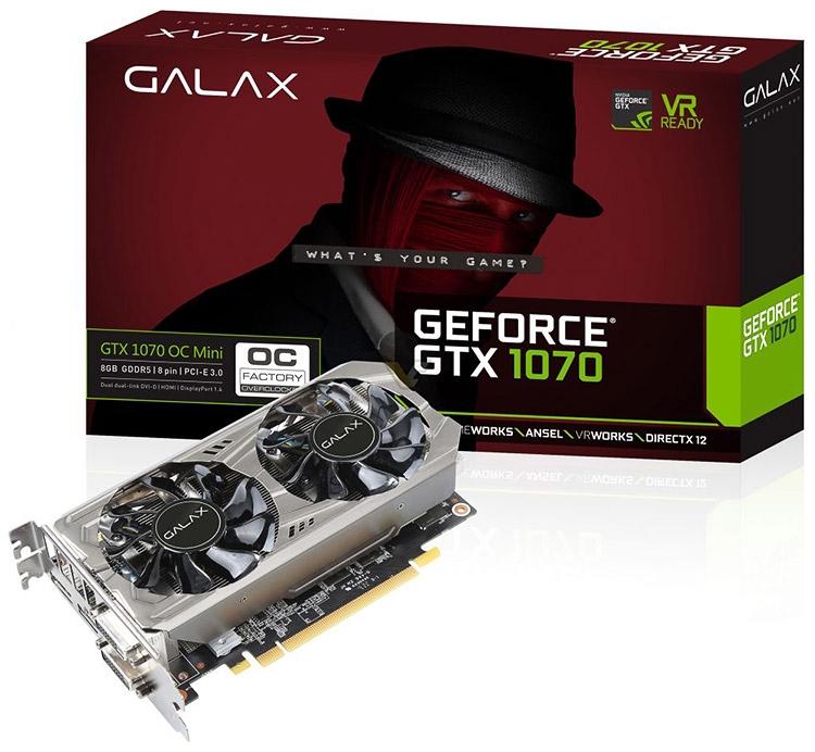 GeForce GTX 1070 OC Mini мощный обрезок