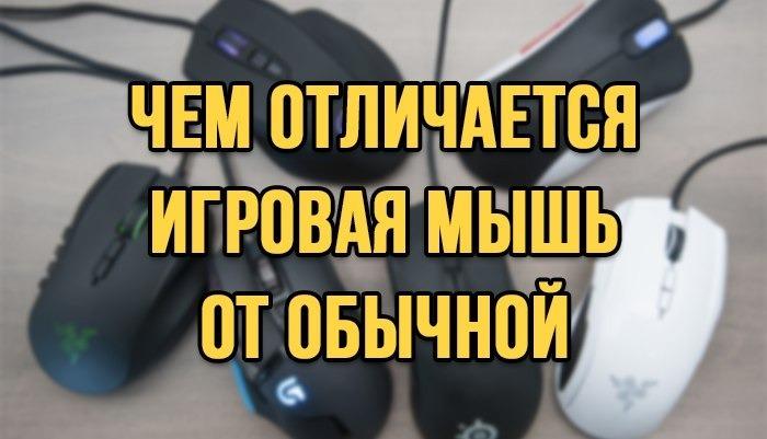Чем отличается игровая мышь от обычной?