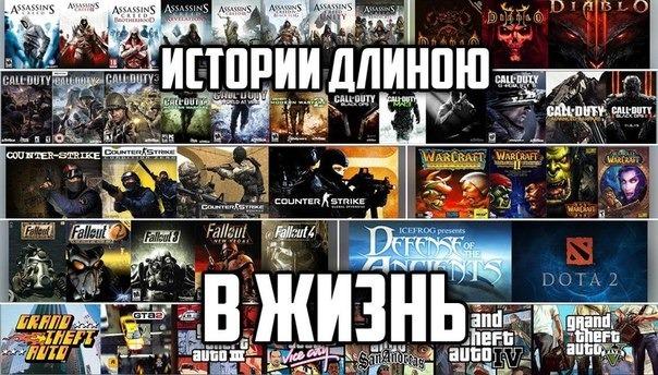Самые популярные линейки игр