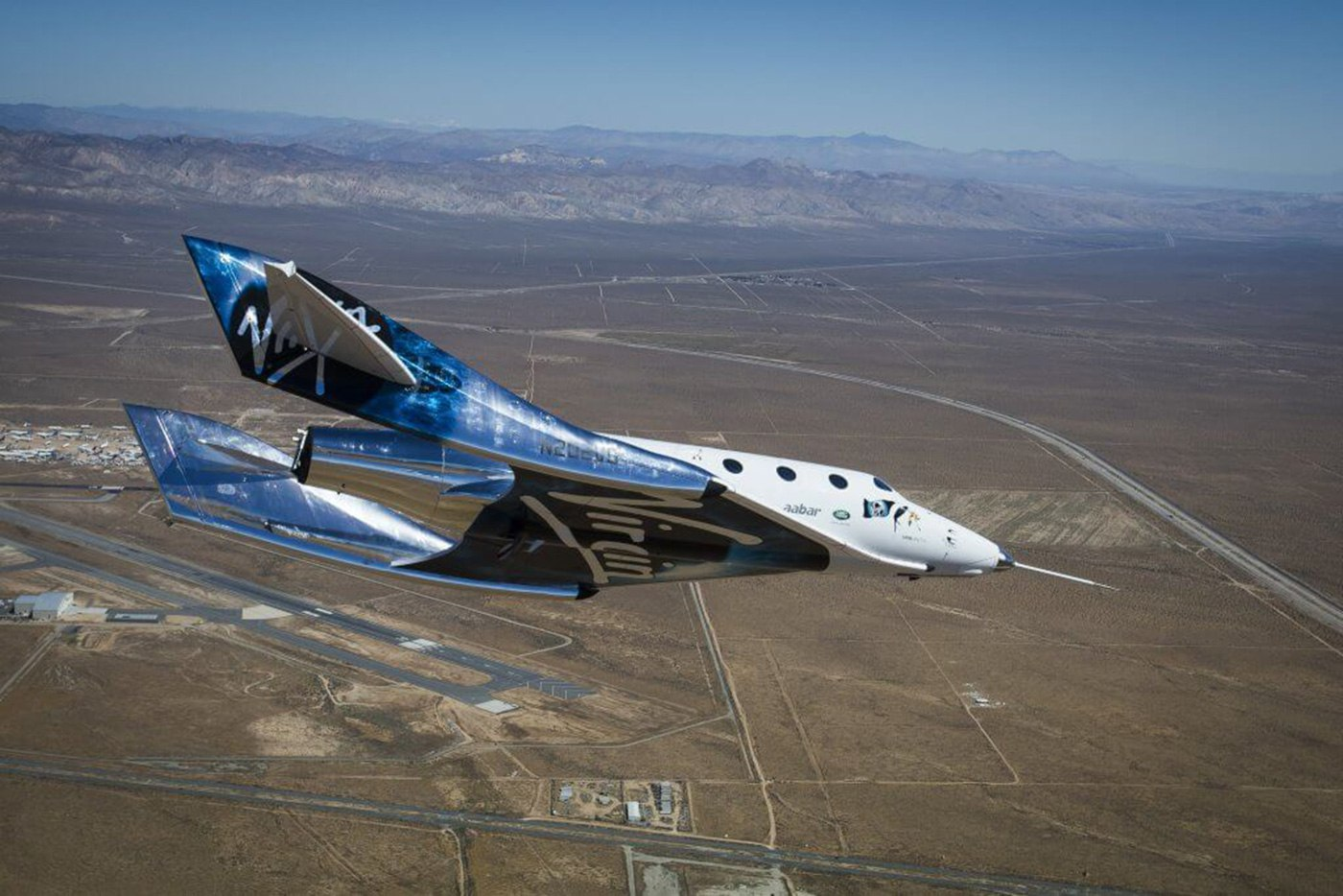 Испытания суборбитального космолёта Virgin Galactic Unit