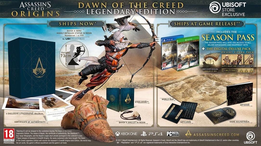 Коллекционное издание Assassins Creed Origins будет стоить $799