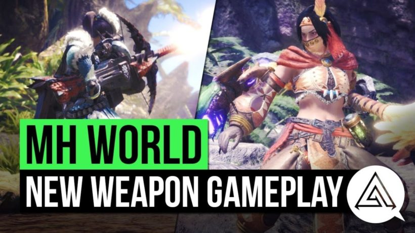 Глефы, двойные топоры, двойные клинки и прочее оружие в новом геймплее Monster Hunter World
