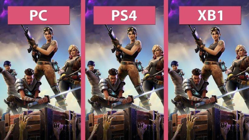 Сравнение графики в Fortnite - PC, PS4 и Xbox One
