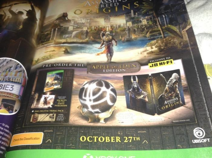 В сеть слили Apple of Eden Edition для Assassins Creed: Origins
