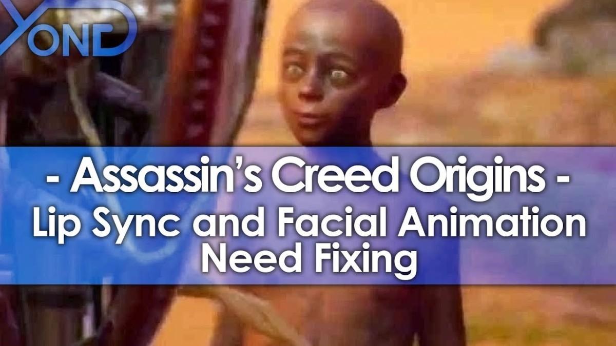 Кукольная лицевая анимация персонажей в игре Assassins Creed: Origins