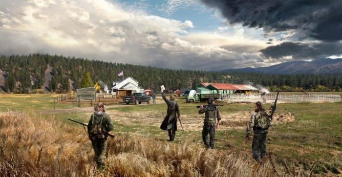 В Far Cry 5 можно пнуть NPC во время разговора