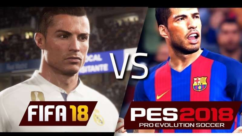 FIFA 18 vs Pes 18: нововведения