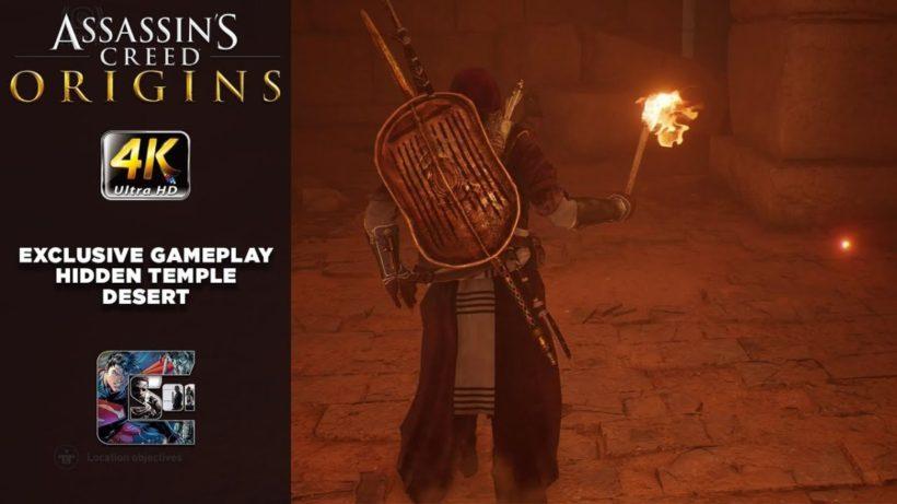 Поиск спрятанного храма в пустыне в новом геймплее Assassin's Creed: Origins
