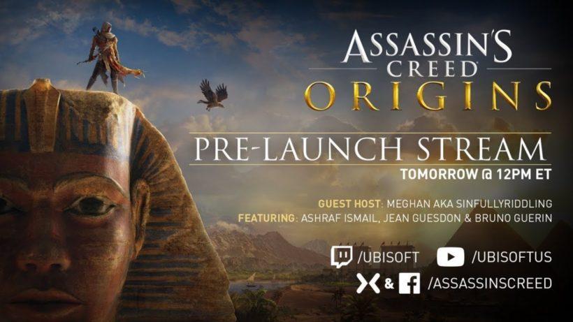 Запись стрима Assassin's Creed: Origins с разработчиками