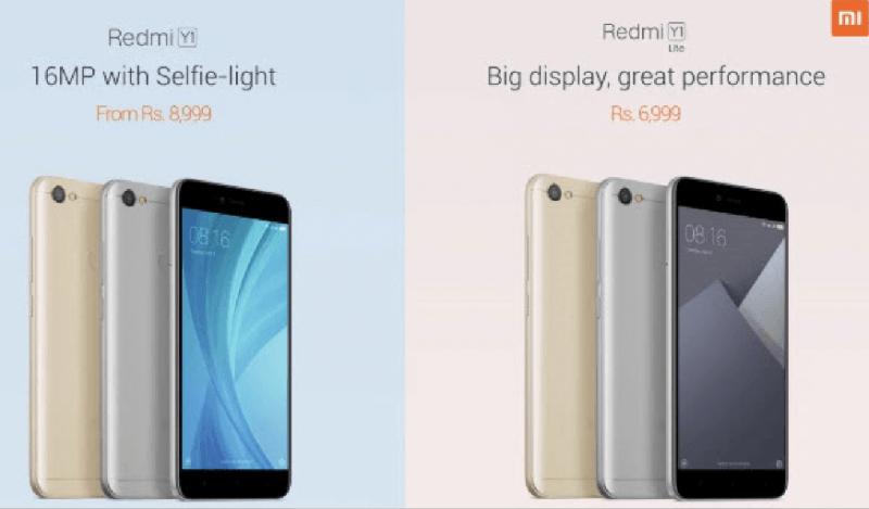 Смартфоны Xiaomi Redmi Y1 и Redmi Y1 Lite предназначены для любителей сэлфи