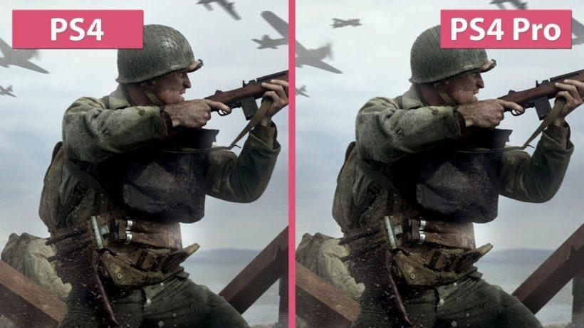 Сравнение графики Call of Duty: WWII: PS4 vs PS4 Pro