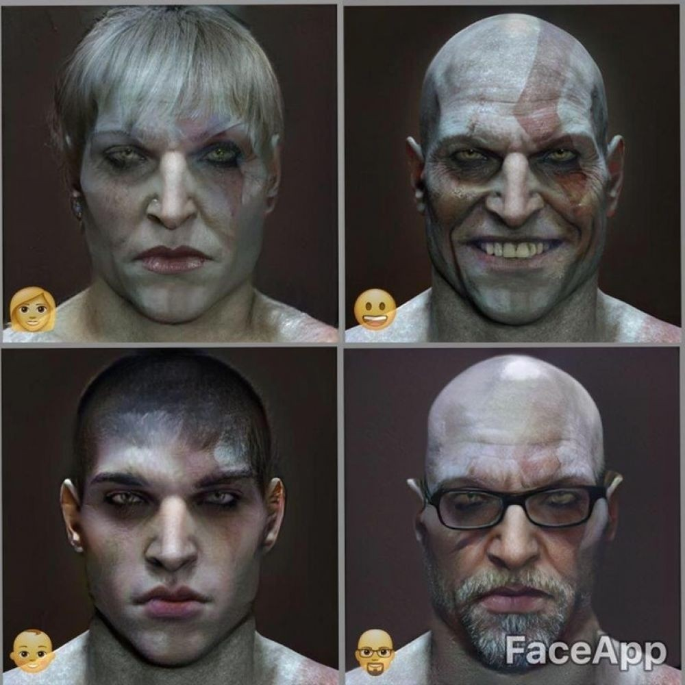 Кратос без бороды в God of War 2018