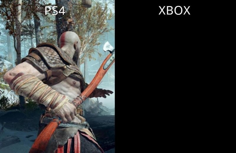 То чувство, когда на PS4 God of War, а на Xbox One черный экран