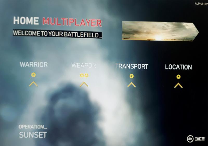 Показали меню из Battlefield 5