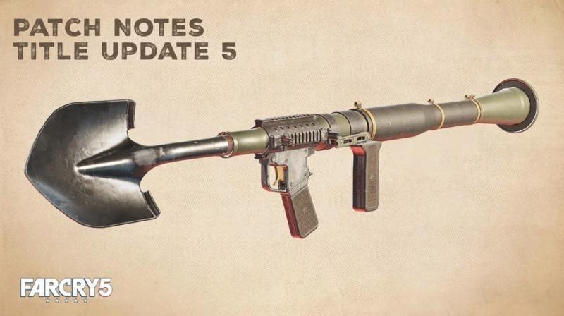 В Far Cry 5 теперь можно стрелять лопатами