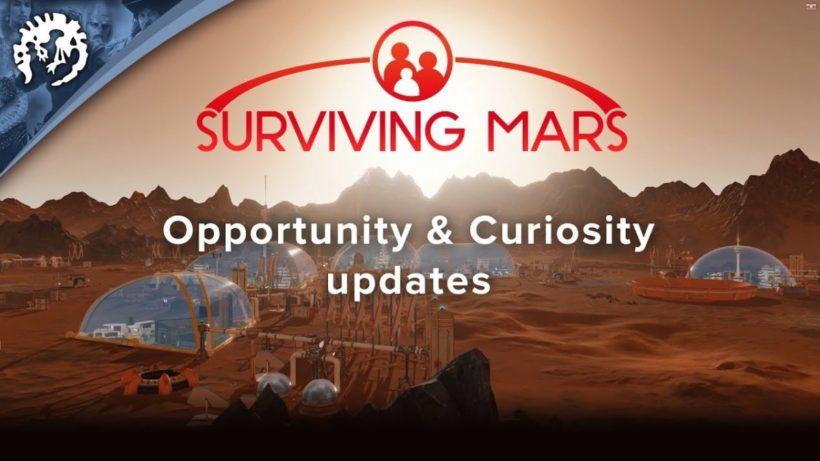 Opportunity и Curiosity в пути в Surviving Mars