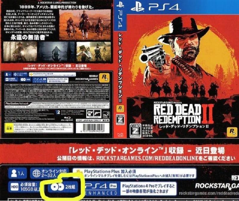 Red Dead Redemption 2 занимает всего два диска
