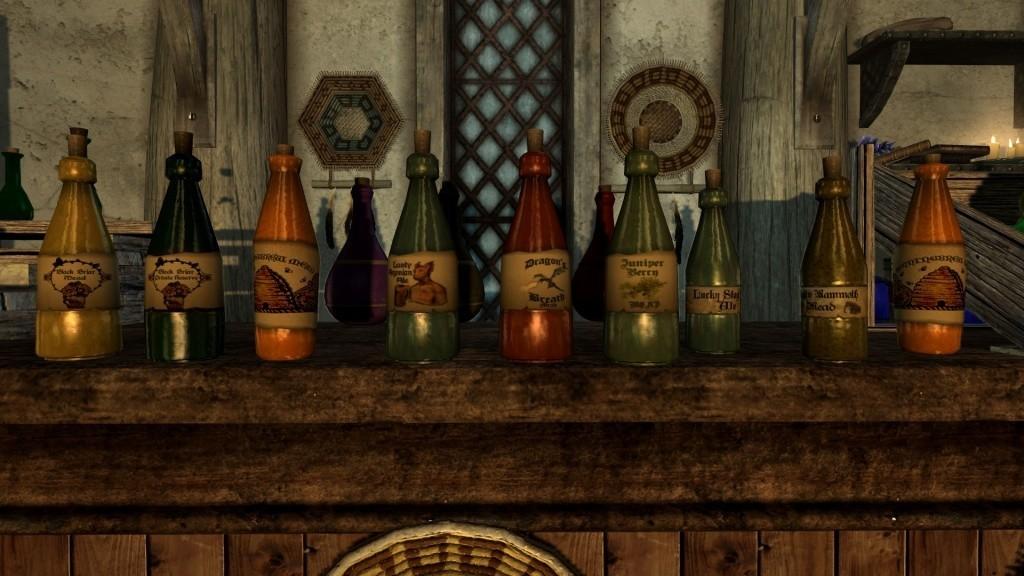 Полная коллекция напитков в Скайрим