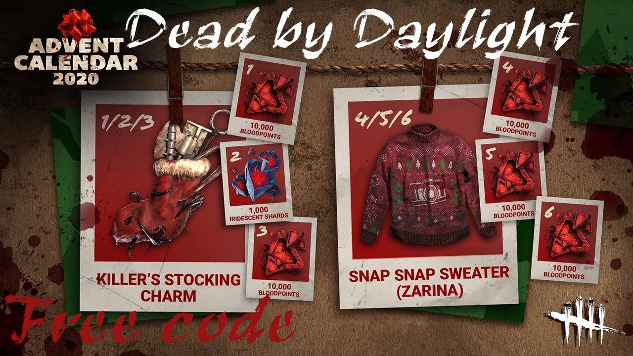 Промокоды и награды для Dead by Daylight за декабрь 2020. Бесплатные очки крови, амулет и одежда